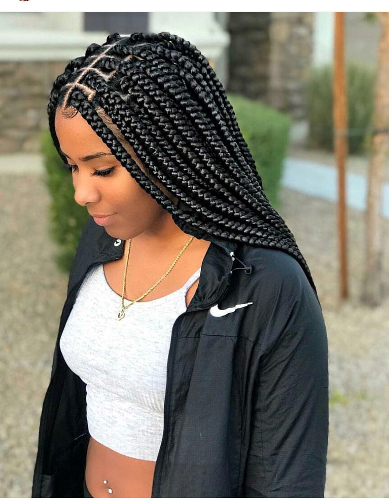 Box Braids De Inspiracao Hair Styles Braids For Black Hair Box Braids Hairstyles