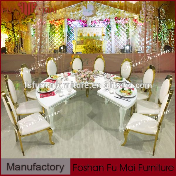 Unique C Shaped MDF Material Stable Dining Table White