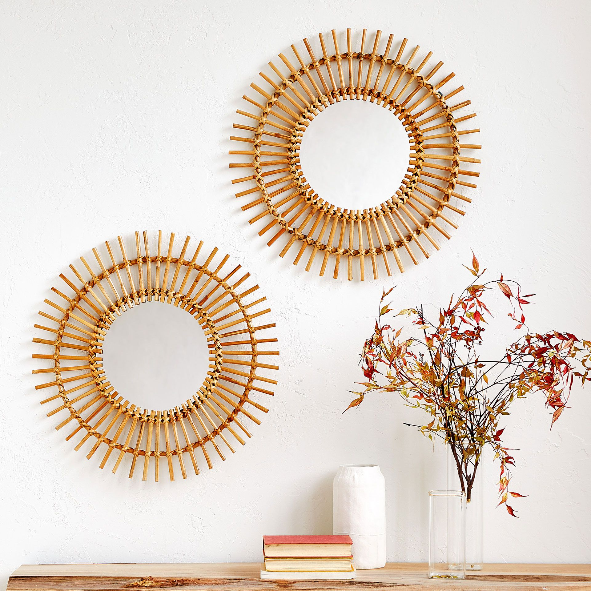 Sun Shaped Mirrors Image 1 Of The Product Sun Shaped Bamboo Mirror Family Room