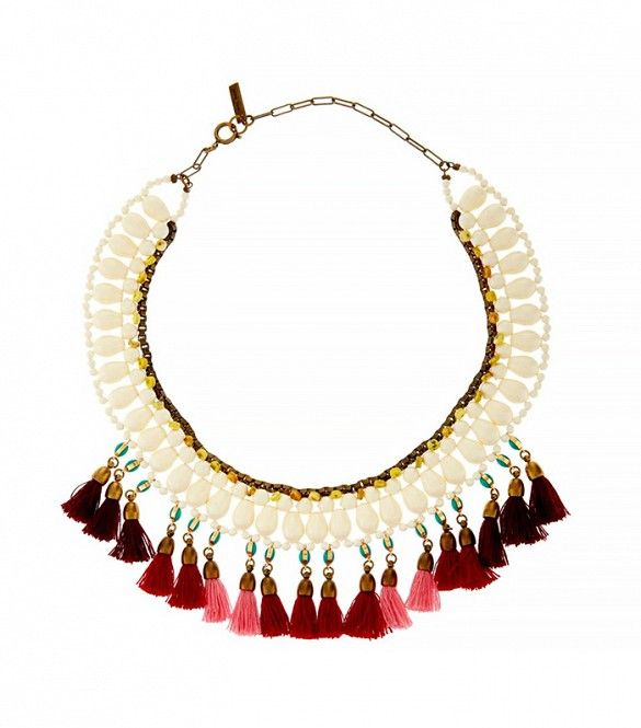 Isabel Marant Mild Tassel and Bead Collar Necklace