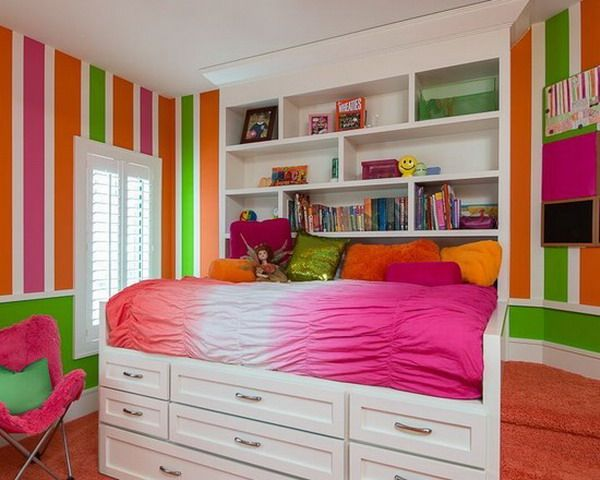 Colorful Stripes Kids Wallpaper Murals Themes Decorating