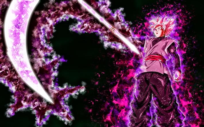 Download Wallpapers Black Goku Spit Dbs 4k Son Goku Black Fighter Dragon Ball Super Goku Besthqwallpapers Com Goku Black Goku Majin Goku