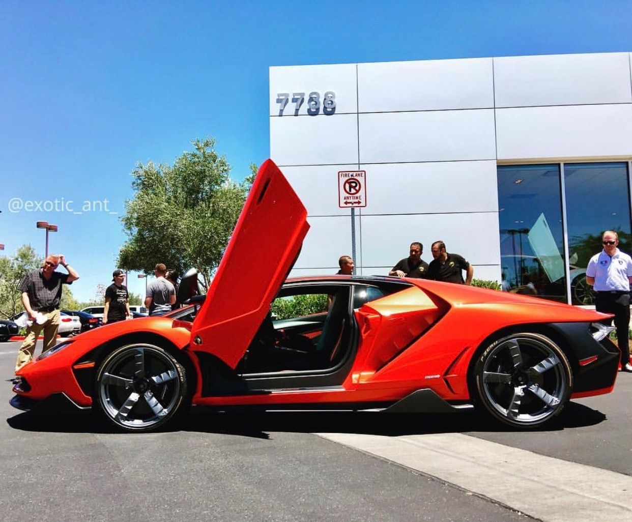 lamborghini centenario coupe painted in arancio fuoco photo taken