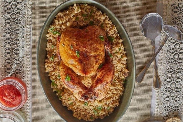 دجاج محشي بالمكسرات والبرغل مطبخ سيدتي Recipe Cooking Eid Ramadan