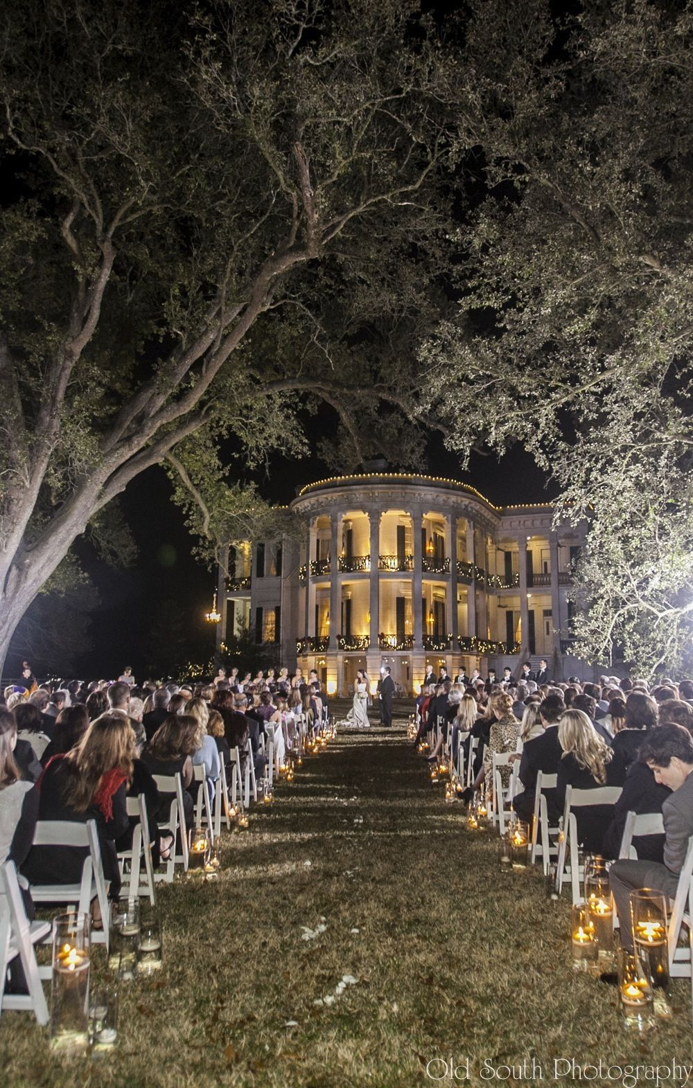 Night Time Ceremony Under The Oaks Nottoway Plantation