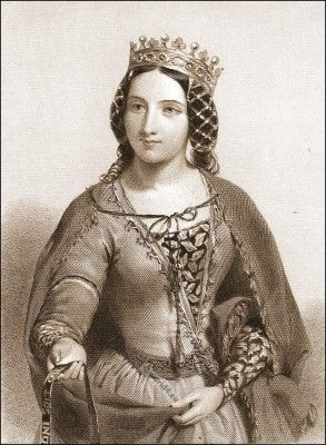 Accessoires medieval nobility. Anne of Bohemia Queen of England