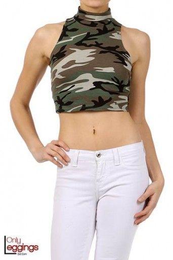 739dab48ff838 Army Girl Camo Crop Top