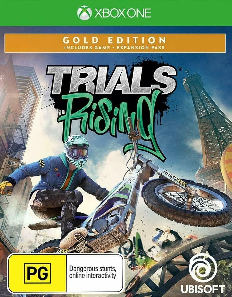 Trials Rising Gold Edition Motocross Pro Dirt Bike Game Microsoft Xbox One Xb1 X Ubisoft Dirt Bike Games Bikes Games Game Sales