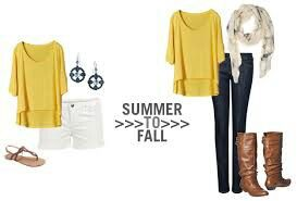 Transitioning Clothes from Summer to Fall