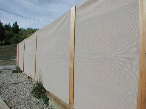 Charming Saddle Tan Privacy Fence Cover   Colored Fabric Over Existing Wooden Fence