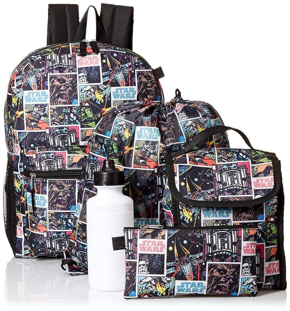 Star Wars Boys Classic 5 Piece Backpack Set Starwarsbackpack Starwarsbag Starwarsschoolbag Star Wars Backpacks Stars