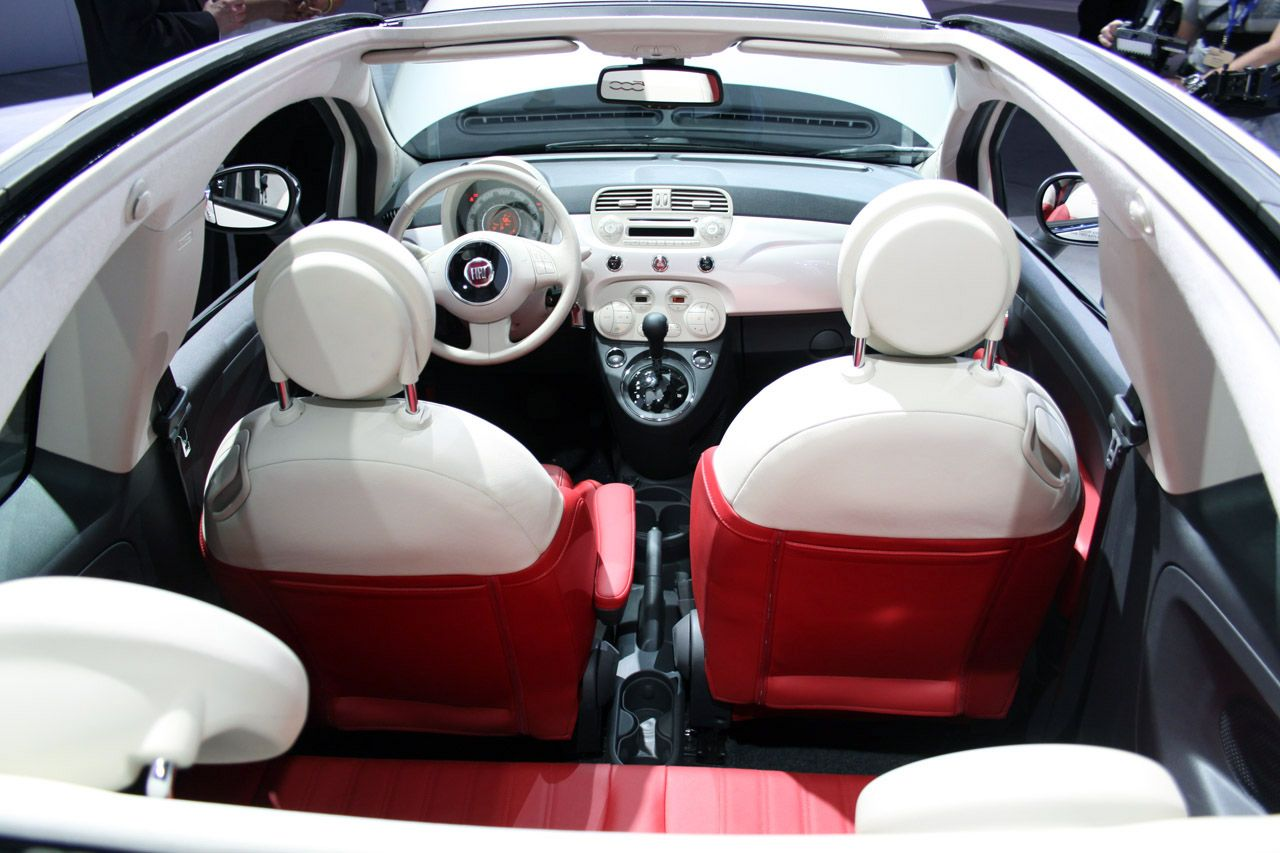 This Is The Interior Of The Fiat 500 I Think This Interior