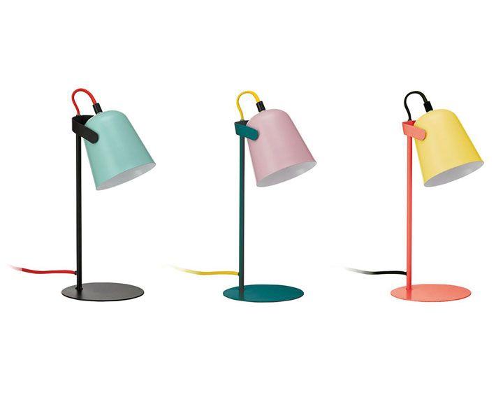 lampe chloe, gelborangeschwarz fürs kinderzimmer