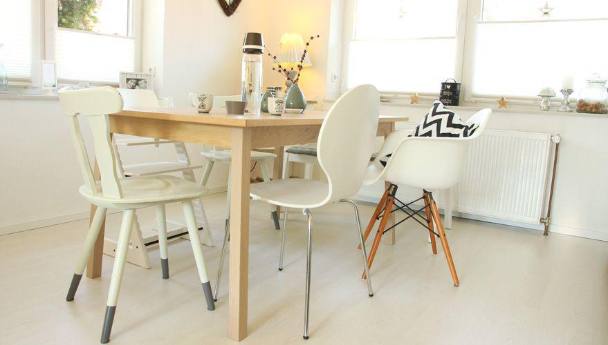 esszimmer: beim einrichten auf die stühle setzen, Esszimmer dekoo