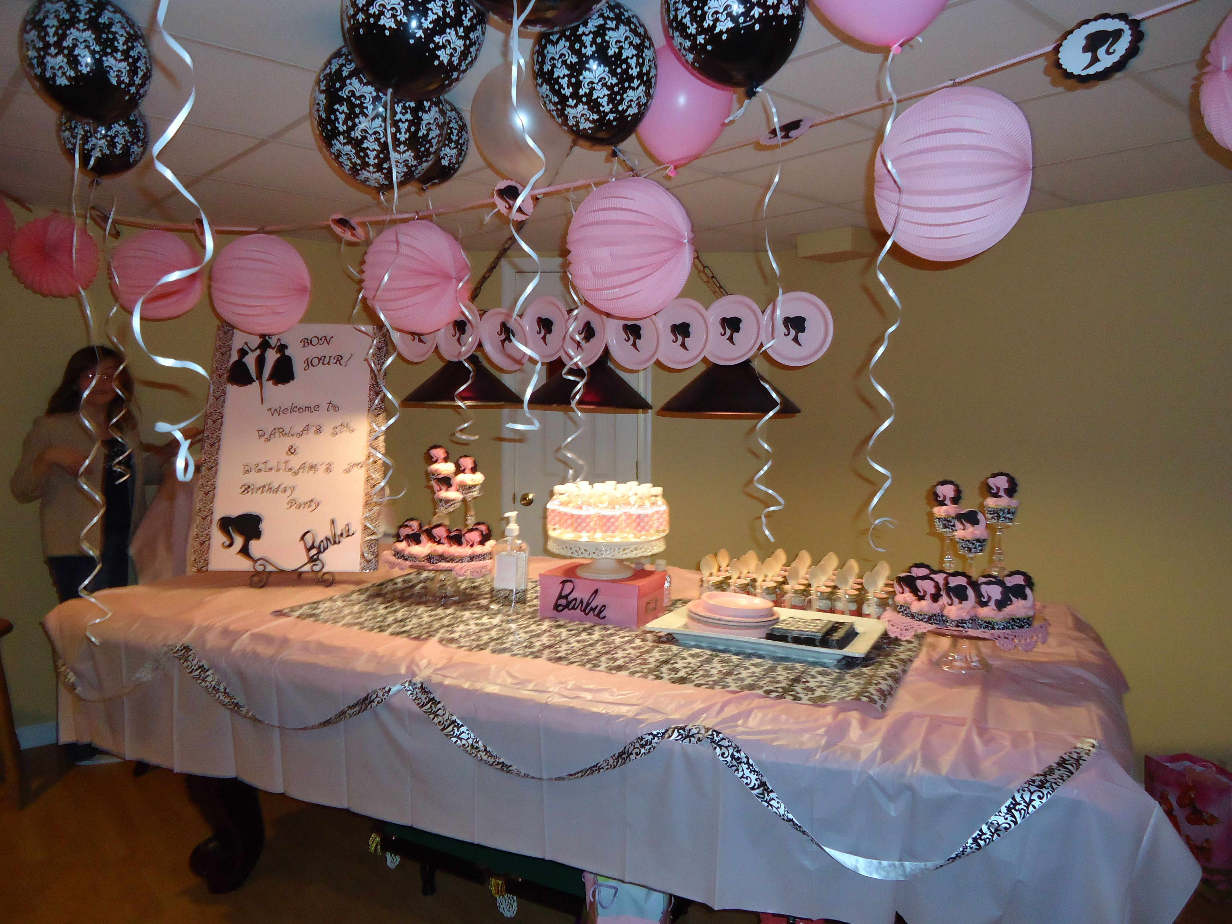 Barbie Pink black Theme Girls Birthday Party Girls Birthday
