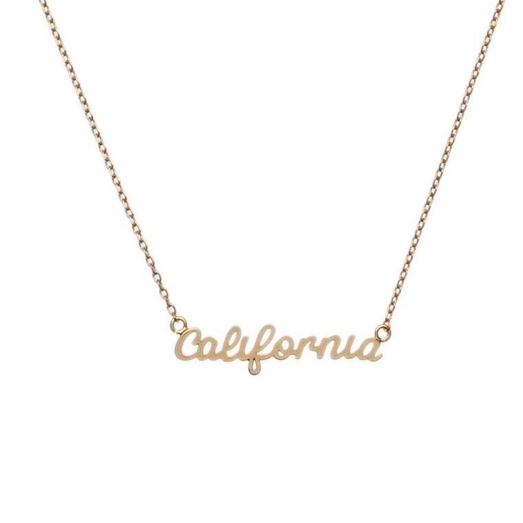 California script pendant necklace necklaces jewellery california script pendant necklace necklaces jewellery beautiful costume jewellery from orelia aloadofball Image collections