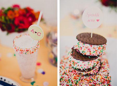 Sprinkle desserts