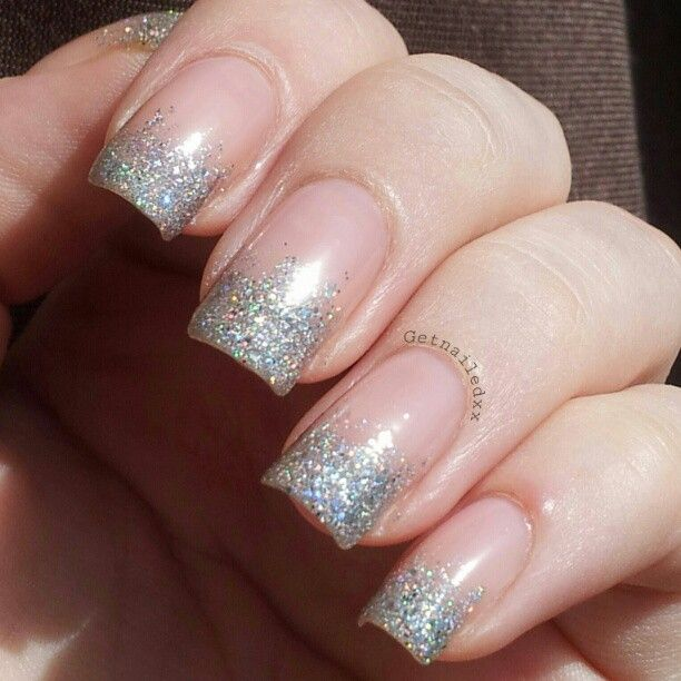 Essie Sugar Daddy with China Glaze Glistening Snow and Nova for the tips