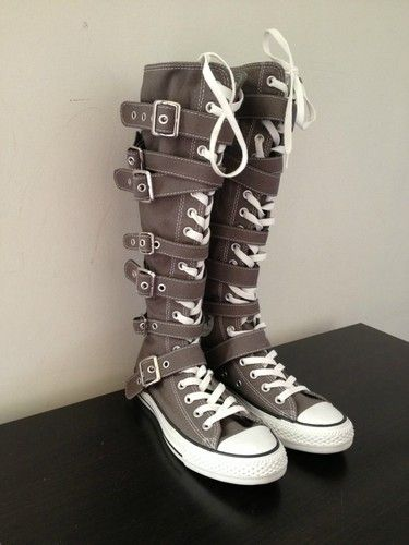 love&factoryss on | Boots, Knee high converse, Shoe boots