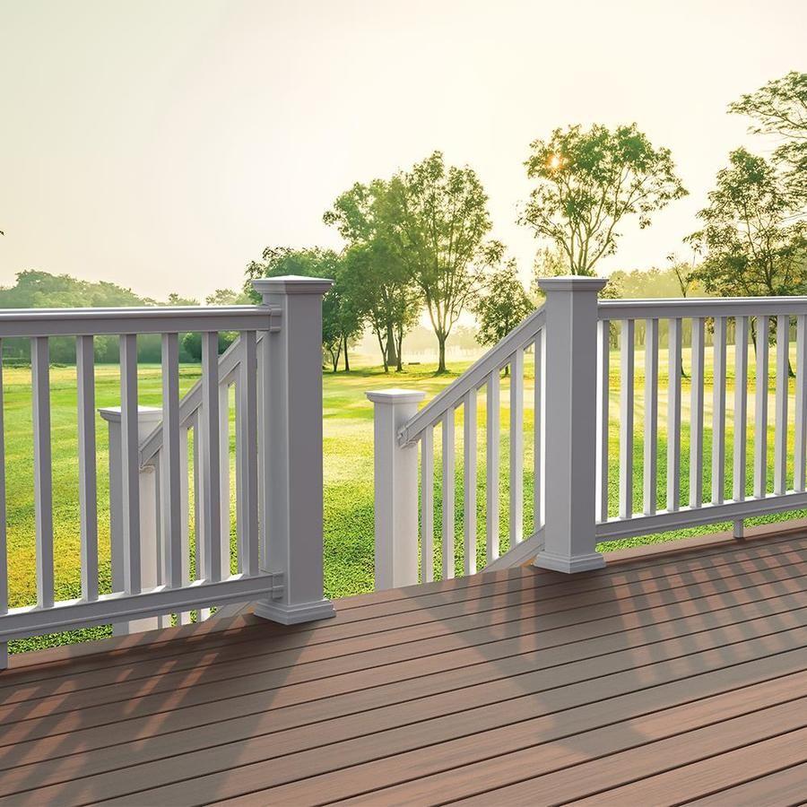 Freedom Prescot Stair White PVC Deck Stair Rail Kit with ...