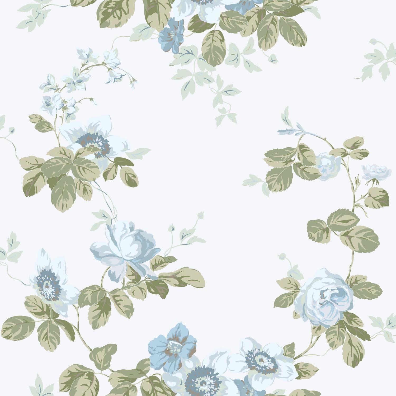 "Artisan Estate Victorian 33' x 20.5"" Floral Wallpaper"