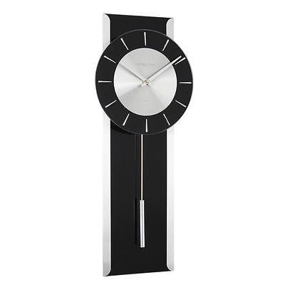 London Clock Co 50cm Black Contemporary Pendulum Wall Clock Wall Clocks Clocks Pendulum Wall Clock Clock Wall Clock
