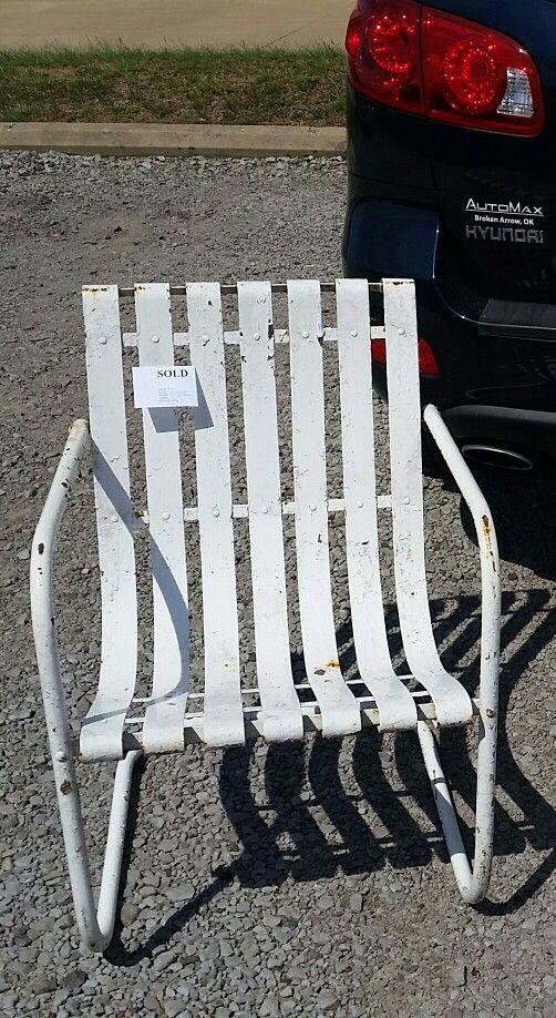 Great vintage metal chair