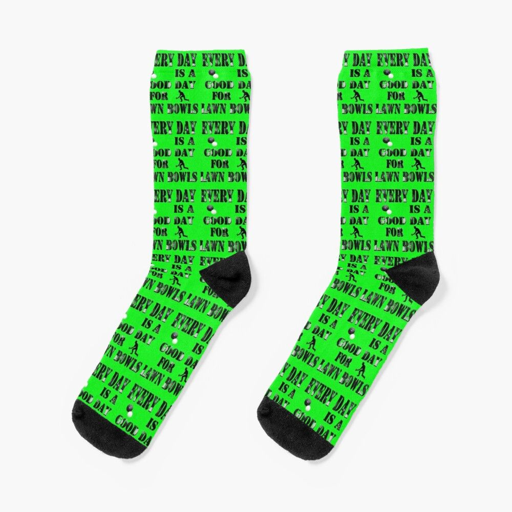 Photo of 'Everyday Good Day To Lawn Bowl,' Socks by A-Work-Of-Art