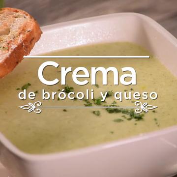 Crema de brócoli y queso
