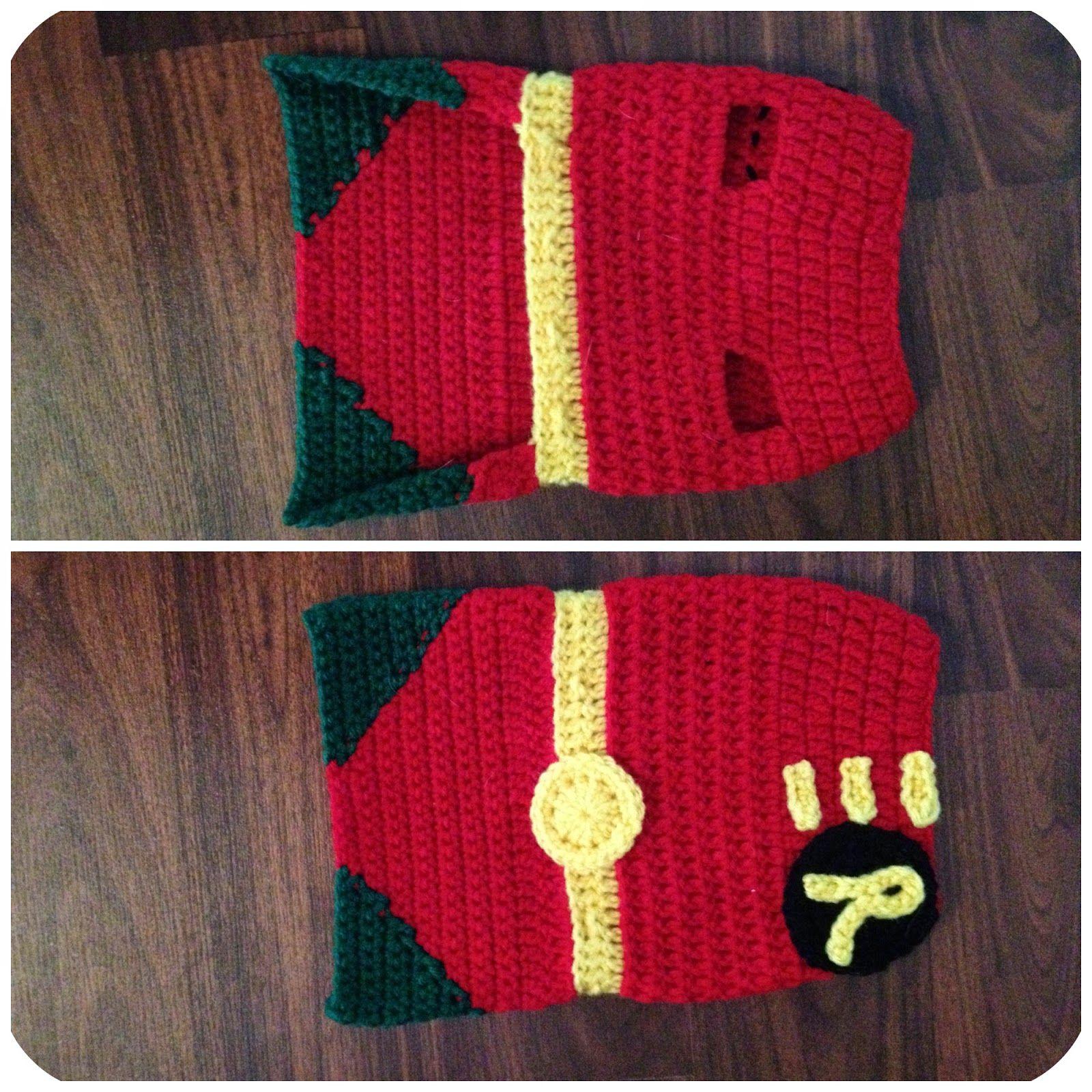 MandaLynn's Crochet Treasures : Robin Look a Like Dog Costume
