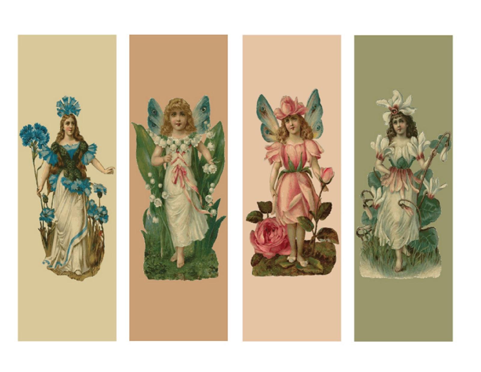 29ececd6759 Picard Creative  Free Printable Flower Fairy Bookmarks Birthday