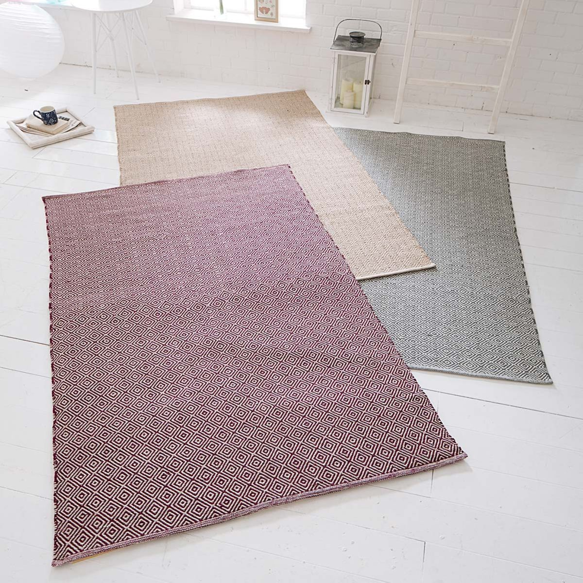 "Living Teppich ""Diamonds"" 120 x 180 cm, lila, 100"