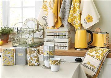 astonishing gray yellow kitchen white accents   Yellow Grey kitchen   home decor   Yellow kitchen accents ...