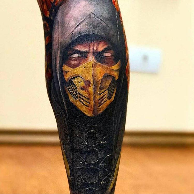 Incr 237 Vel Tatuagem Realista Do Mortal Kombat Com Esse border=