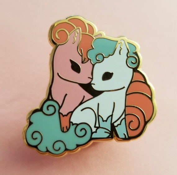 Vulpix and Ninetales Pins made by Whalephat -