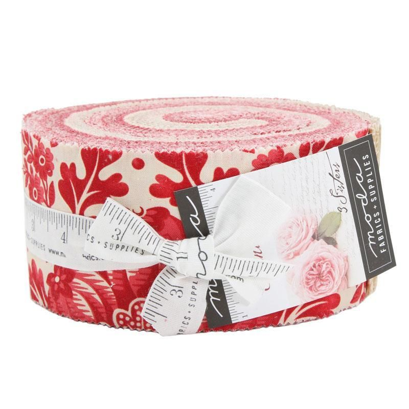 """Red /& White Jelly Roll 40-2.5/"""" Strips Quilting /& Sewing Fabric"""
