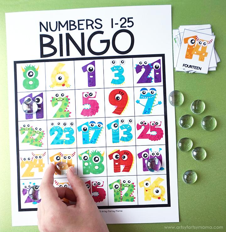 Free Printable Number Bingo in 2020 Bingo printable free