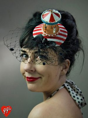 carousel fascinator by GGs Pinup Couture  7a470b0f1dc7