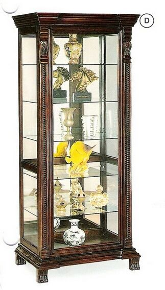 Vintage Furniture Glass Living Room Showcase Design Wood: 4715 Rosalind Wheeler Paddington Espresso Finish Wood