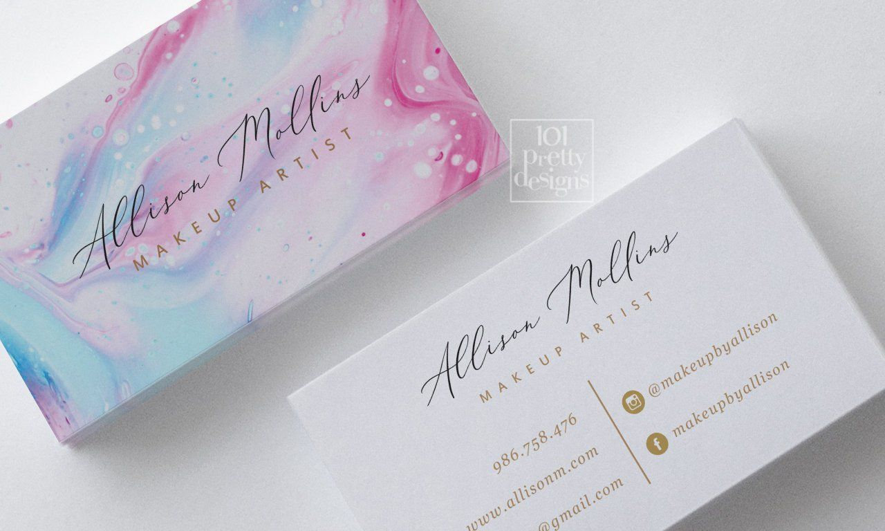 This Item Is Unavailable Etsy Makeup Business Cards Watercolor Business Cards Business Card Design