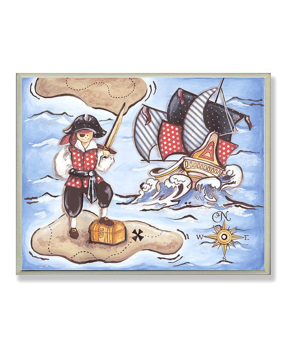 Take a look at this Pirate Treasure Wall Art on zulily today!