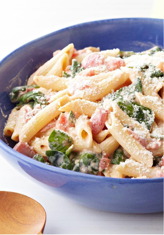 Creamy Pasta With Spinach Recipe Spinach Pasta Recipes Creamy Spinach