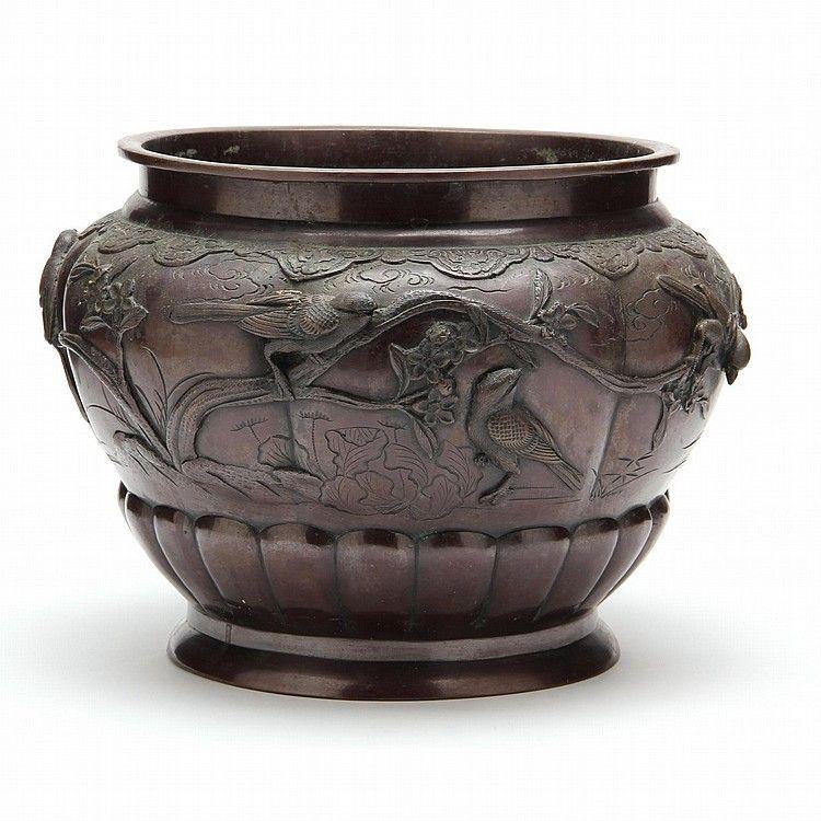 Japanese Large Bronze Bowl Bronze Japanese Bronze Japanese