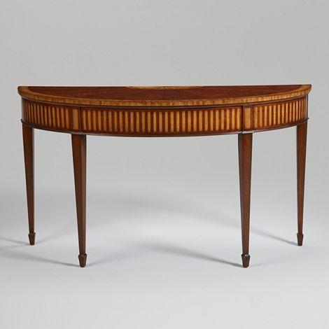 Ethanallen Com Newport Newman Demilune Sofa Table
