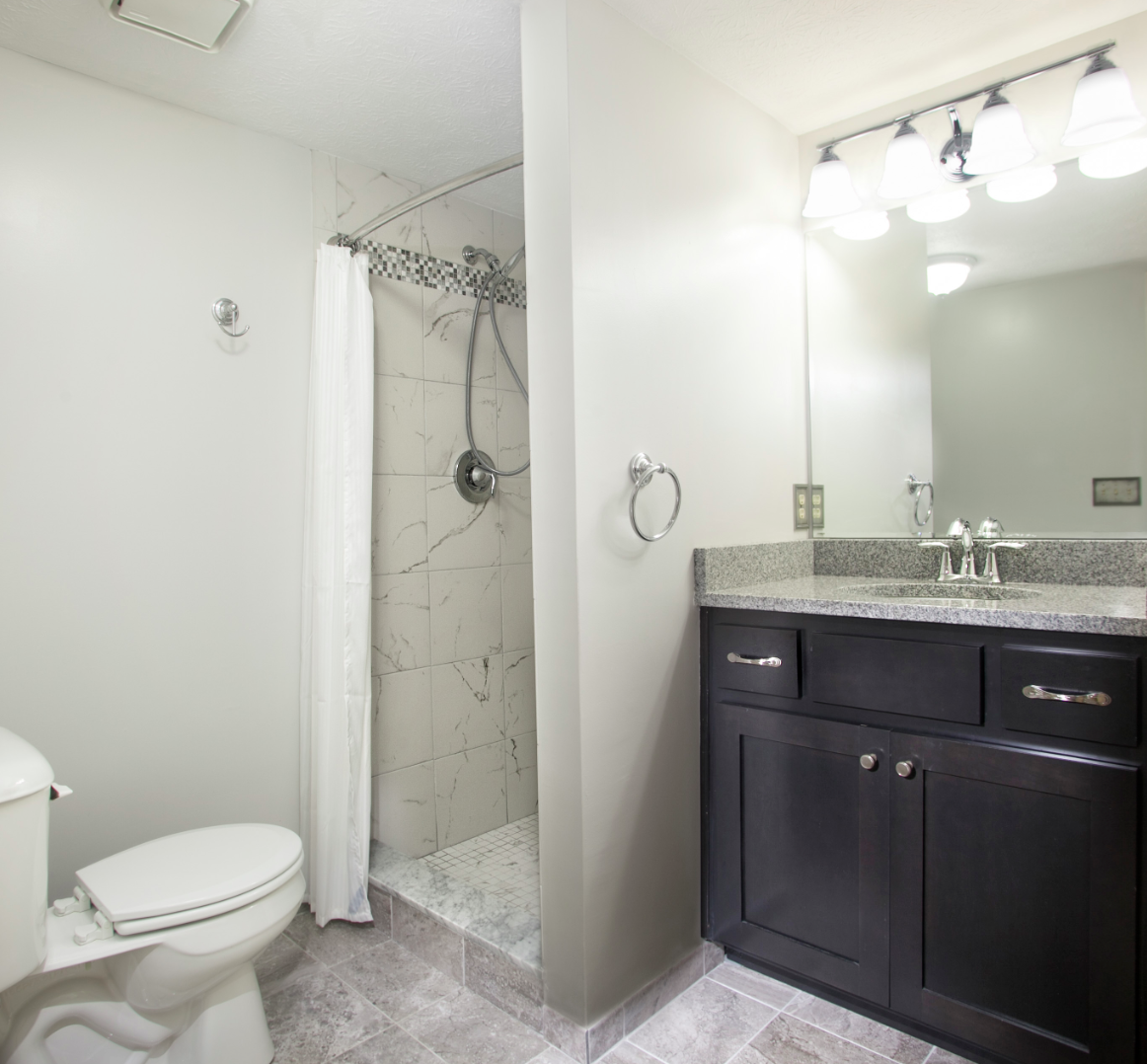 Flooring For Basement Bathroom: Basement Bathroom Remodel This Basement Shower Has A 12x12