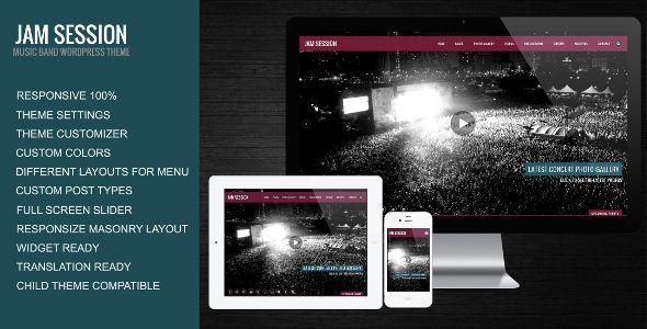 JamSession - Music & Music Band WordPress Theme   Pinterest
