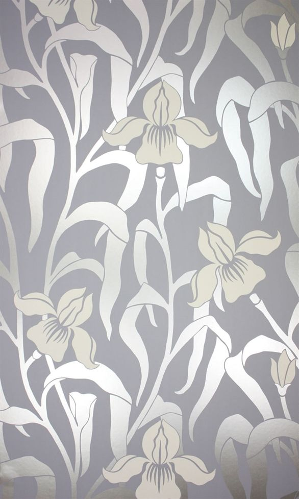 Iris Wallpaper Re Coloured From The Original 60s Design Osborne