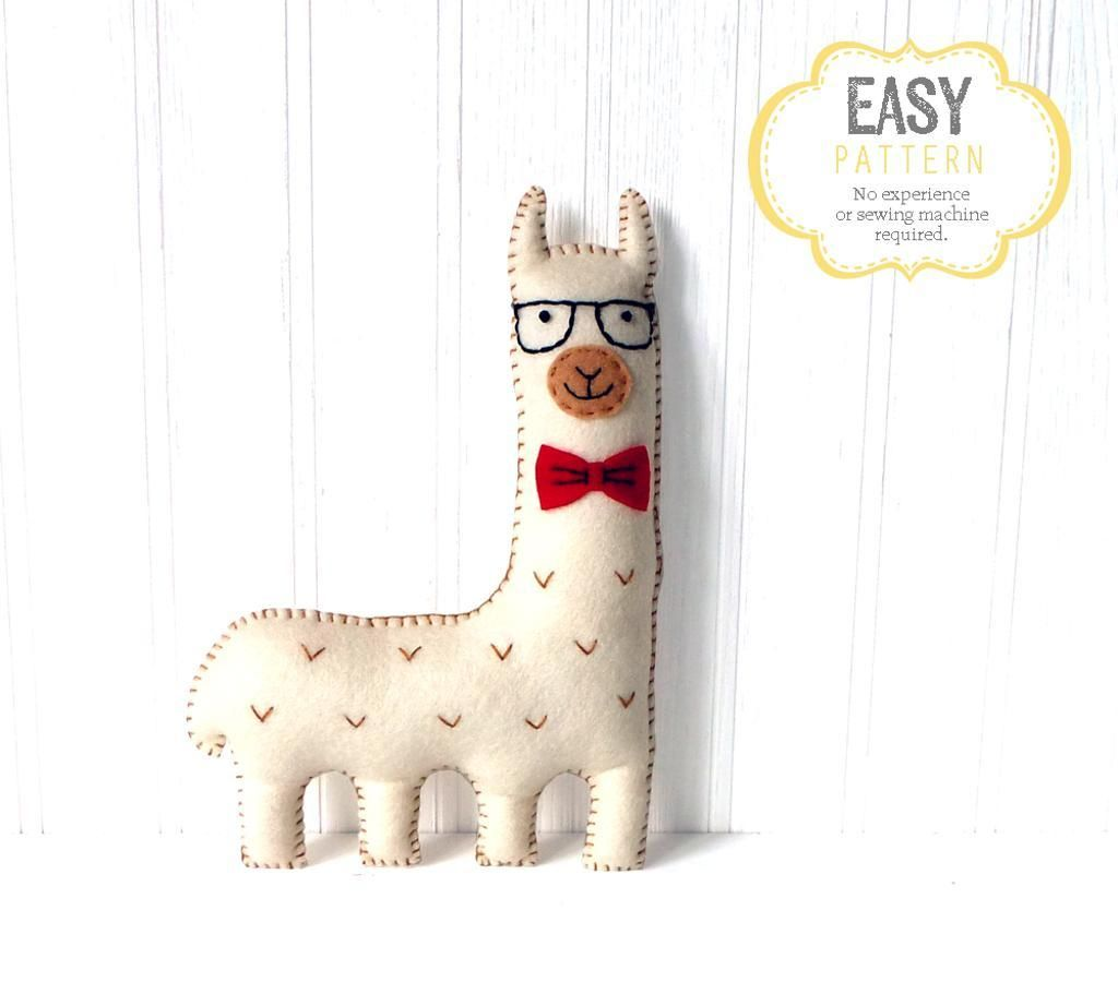 Hipster Llama Hand Sewing | Nähen