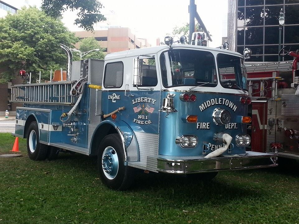 Blue Seagrave Fire engine, Fire dept, Fire