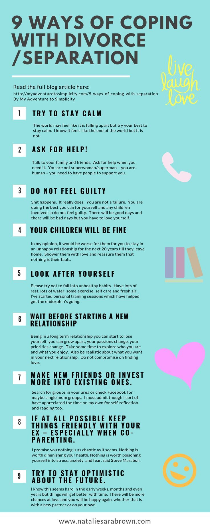 9 Ways of Coping with Divorce or Separation Coping with